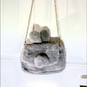 Other - Brand new faux fur bunny crossbody